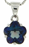 "2.43ctw Mystic Blueish Pendant in Sterling Silver with 18"" Chain"