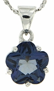 "2.43ctw Mystic Iolite Blue Pendant in Sterling Silver with 18"" Chain"