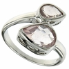 2.43ctw Rose Quartz Ring in Sterling Silver