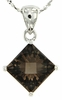 "2.43ctw Smokey Quartz Pendant in Sterling Silver with 18""Chain"