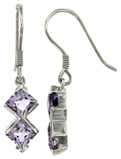 2.48ctw Amethyst Earrings in Sterling Silver