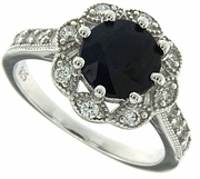 2.53ctw Diffusion Sapphire Ring in Sterling Silver