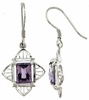 2.55ctw Amethyst Earrings in Sterling Silver