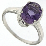 2.55ctw Amethyst Ring in Sterling Silver