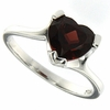 2.55ctw Garnet Ring in Sterling Silver