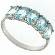 2.70ctw Sky Topaz and Diamond Ring in Sterling Silver