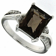 2.75ctw Smoky Topaz Ring in Sterling Silver
