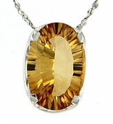 "2.76ctw Citrine Pendant in Sterling Silver with 18"" Chain"