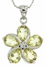 "2.76ctw Lemon Quartz Pendant in Sterling Silver with 18""Chain"