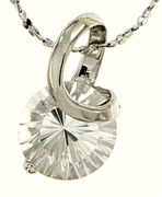 "2.79ctw White Topaz Pendant in Sterling Silver with 18""Chain"
