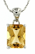 "2.84ctw Citrine Pendant in Sterling Silver with 18"" Chain"