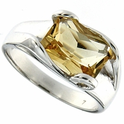 2.88ctw Citrine Ring in Sterling Silver