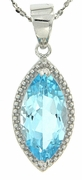 "2.94ctw Sky Topaz Pendant in Sterling Silver with 18"" Chain"