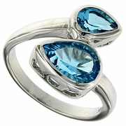 2.95ctw Swiss Blue Topaz Ring in Sterling Silver