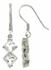 2.95ctw White Topaz Earrings in Sterling Silver