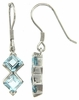 2.99ctw Sky Topaz Earrings in Sterling Silver