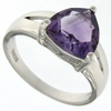 3.00ctw Amethyst Ring in Sterling Silver