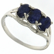 2.06ctw Sapphire Ring in Sterling Silver