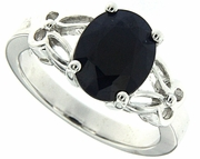 3.05ctw Diffusion Sapphire Ring in Sterling Silver