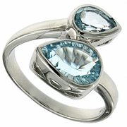 3.06ctw Sky Topaz Ring in Sterling Silver