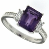 3.08ctw Amethyst Ring in Sterling Silver