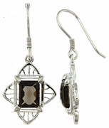3.08ctw Smokey Quartz Earrings in Sterling Silver