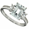 3.08ctw White Topaz Ring in Sterling Silver