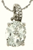 "3.09ctw White Topaz Pendant in Sterling Silver with 18""Chain"