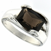 3.16ctw Smoky Topaz Ring in Sterling Silver