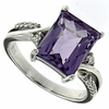3.18ctw Amethyst Ring in Sterling Silver