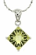 "3.18ctw Lemon Quartz Pendant in Sterling Silver with 18""Chain"