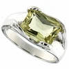 3.18ctw Lemon Quartz Ring in Sterling Silver