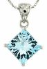 "3.23ctw Sky Topaz Pendant in Sterling Silver with 18"" Chain"
