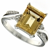 3.25ctw Citrine Ring in Sterling Silver