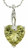 "3.25ctw Lemon Quartz Pendant in Sterling Silver with 18""Chain"
