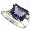 3.26ctw Amethyst Ring in Sterling Silver