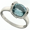 3.26ctw Sky Topaz and Diamond Ring in Sterling Silver
