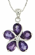 "3.28ctw Amethyst Pendant in Sterling Silver with 18"" Chain"
