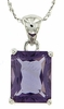"3.29ctw Amethyst Pendant in Sterling Silver with 18"" Chain"