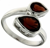 3.31ctw Garnet Ring in Sterling Silver