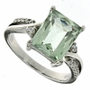 3.35ctw Green Amethyst Ring in Sterling Silver