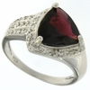 3.46ctw Garnet and Diamond Ring in Sterling Silver