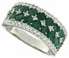 3.47ctw Emerald Ring in Sterling Silver