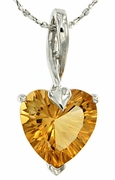 "3.48ctw Citrine Pendant in Sterling Silver with 18"" Chain"