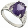 3.50ctw Amethyst Ring in Sterling Silver
