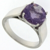 3.54ctw Amethyst Ring in Sterling Silver