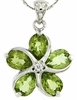 "3.55ctw Peridot Pendant in Sterling Silver with 18"" Chain"