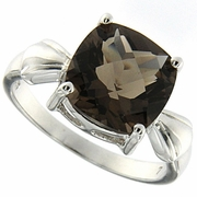 3.56ctw Smoky Topaz Ring in Sterling Silver