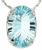 "3.75ctw Sky Topaz Pendant in Sterling Silver with 18"" Chain"