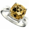 3.80ctw Citrine Ring in Sterling Silver